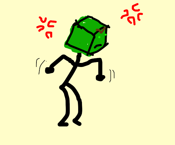 cube man is angry