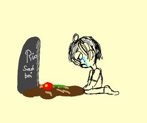 sadboi visits grave