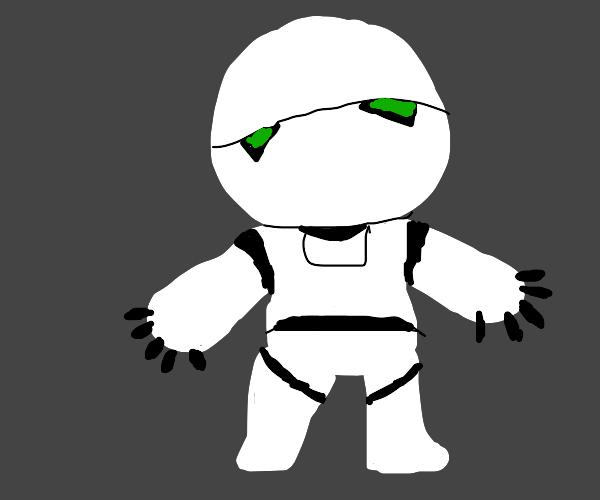 Depressed Hitchhiker Robot