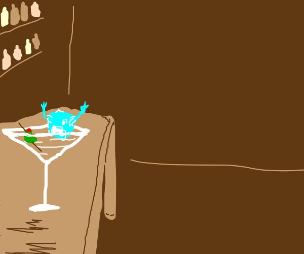 That ice cube has drunk way too much Smirnoff