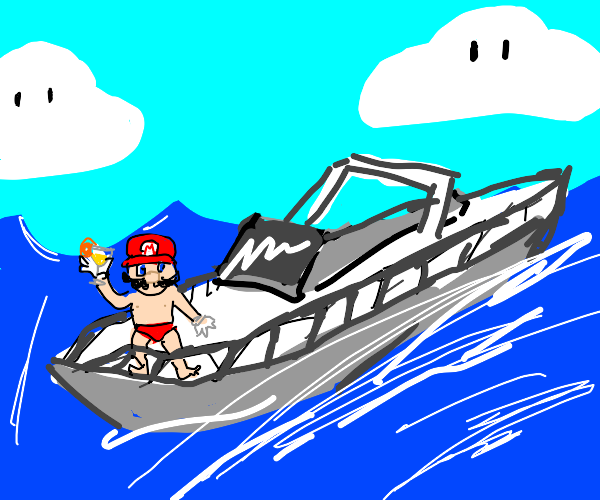 Mario out for a nice summer boat trip
