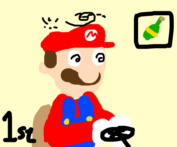 Mario drives while drunk