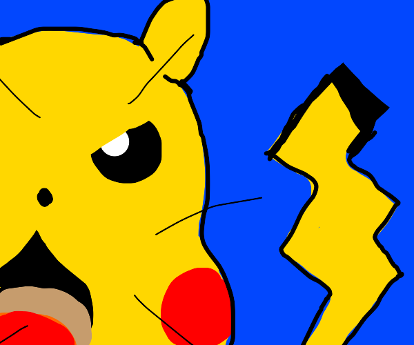 Huge Angry Pikachu