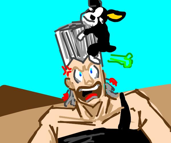 jojo man yelling at iggy the dog