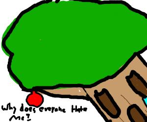 a very very depressed tree