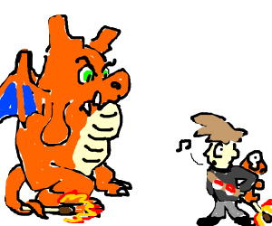 PKMN trainer has angered a charizard knockoff