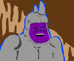 Bad Time Thanos wearing a Rhino skin