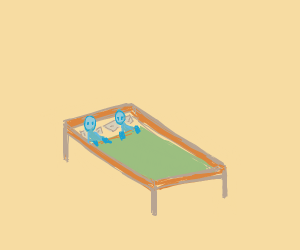 Two people in the bed