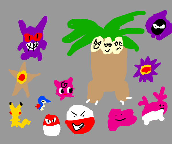 Draw as many Pokemon as you can in 10 minutes