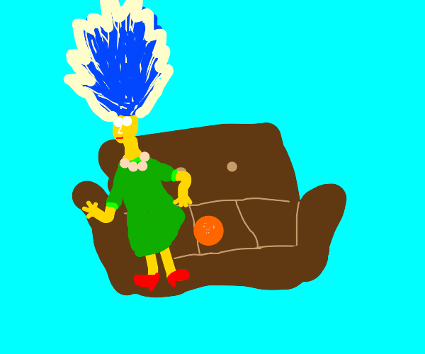 Marge goes Super Saiyan