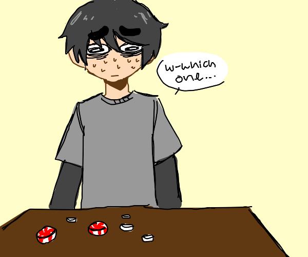 indecisive man can't choose a mint