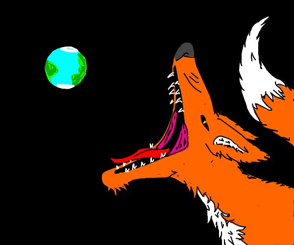 Fox eats the Earth