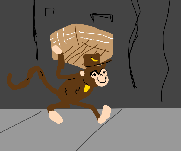 UPS delivery monkey