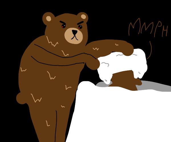 bear commits murder
