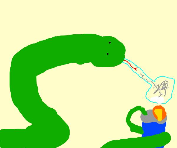 snake smoking crack