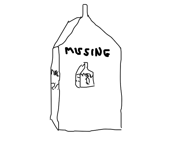 missing milk carton on a milk carton on a...