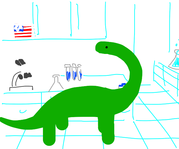 dinosaur in american lab