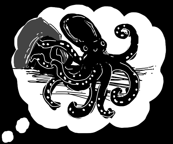 Think about a cave octopus