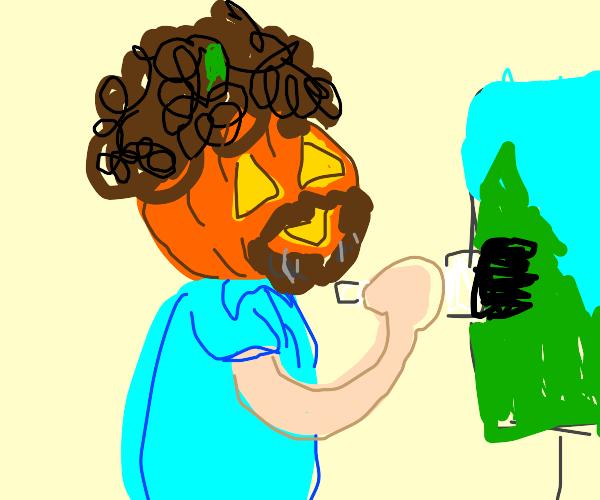 Halloween Bob Ross