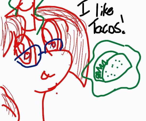 a pony who likes tacos