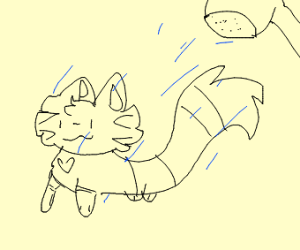 Furret taking a shower