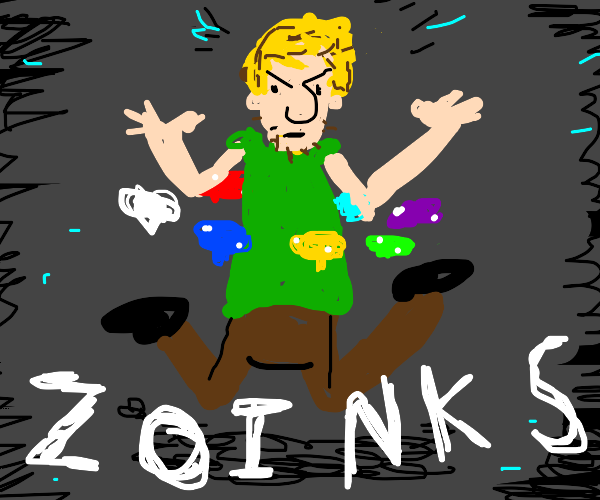 Shaggy has found all 7 chaos emeralds