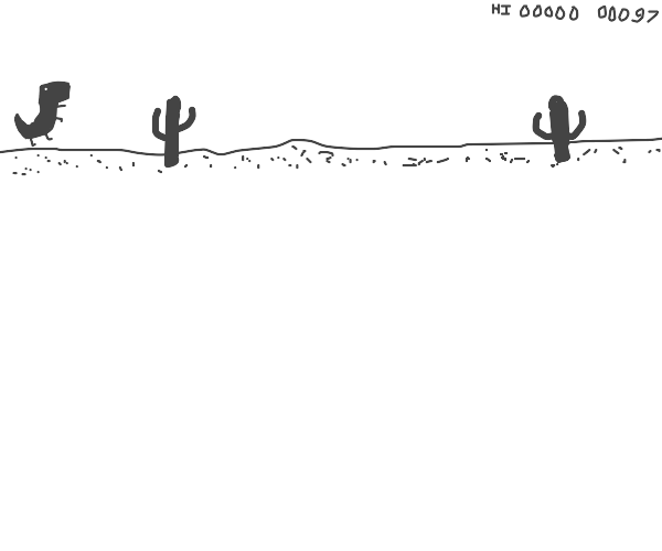 The no internet dino in desert game