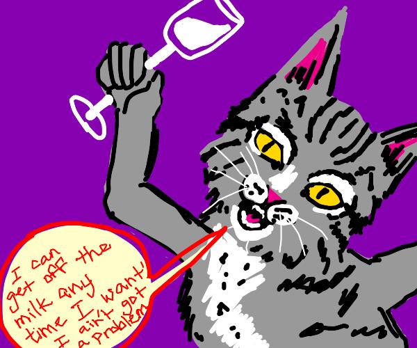 Cat with bad habits