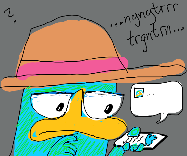 perry the platypus saying what should i tweet