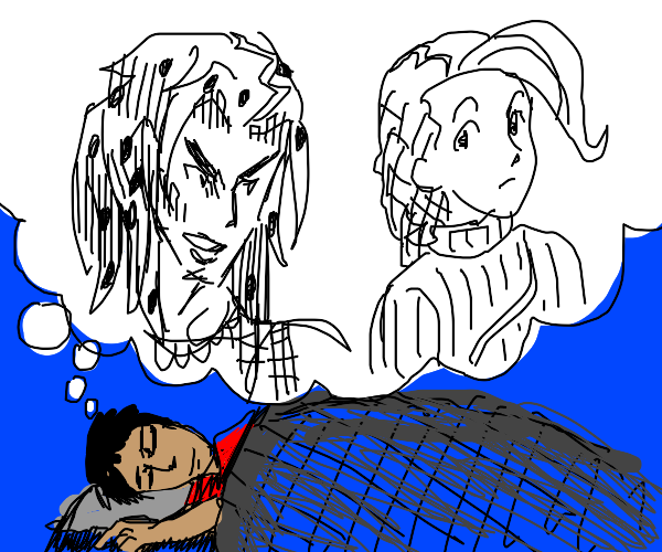 man dreams of diavolo and anime charcter