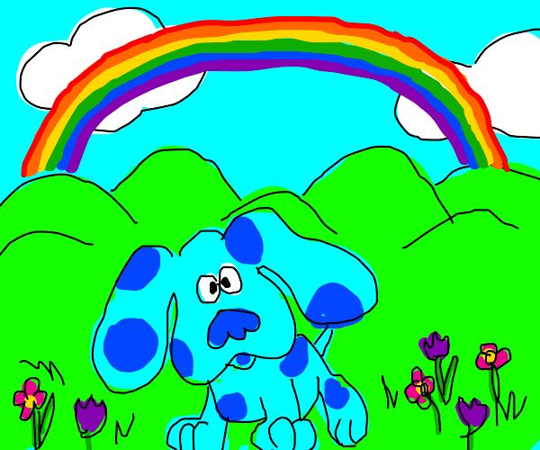 rainbow and BLUE