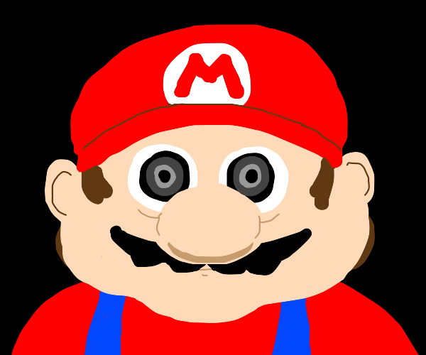 mario with no eyebrows stares into your soul