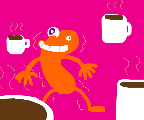 crazy human shaped cheeto high on caffeine