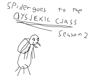 Spider goes to THE DYSLEXIC CLASS!