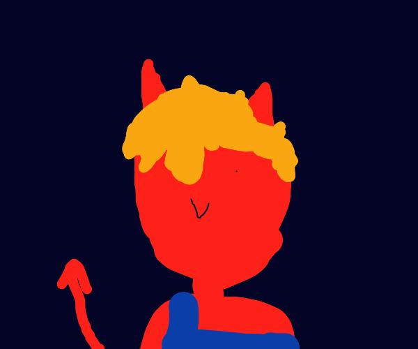blonde devil smiles