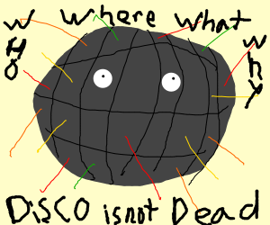 confused disco ball