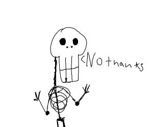 Skeleton politely declines