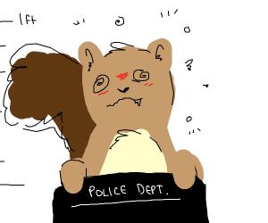 drunk squirrel mugshot
