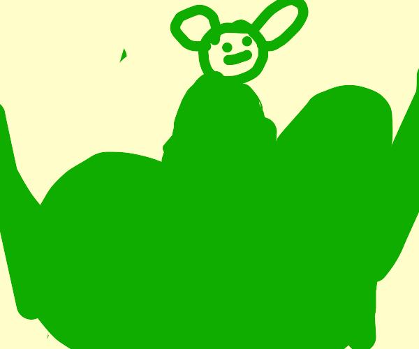 Hulk Body, Baby Yoda Head