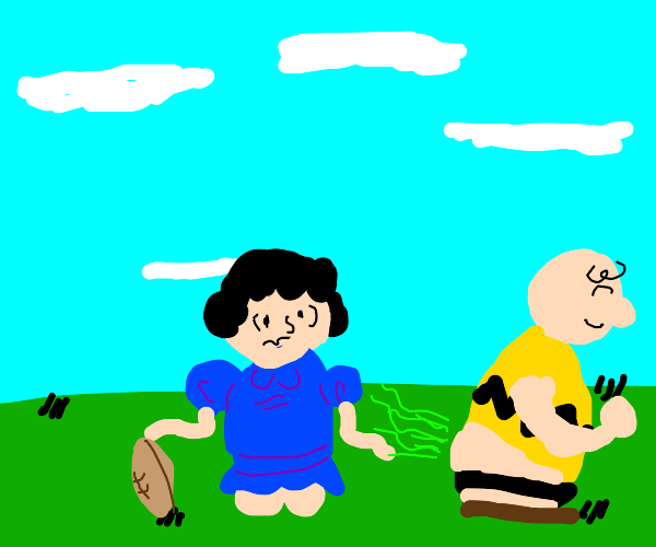 charlie brown farts on lucy