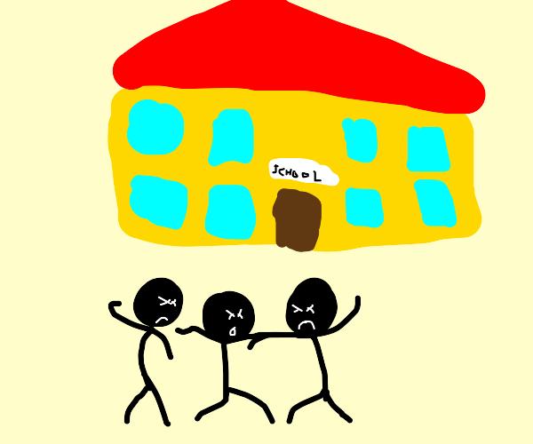 fistfight at school