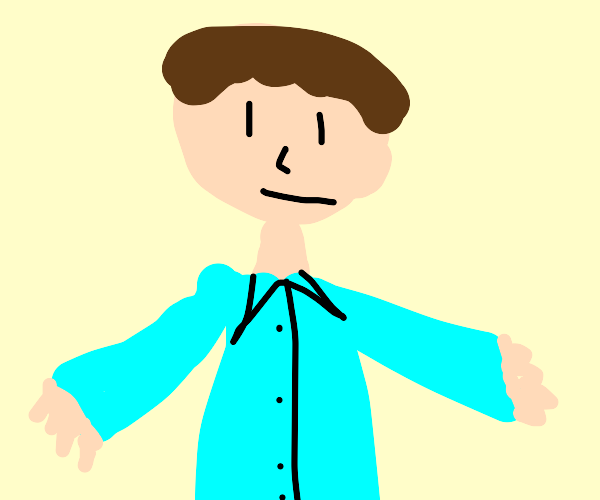 Man in a collared shirt