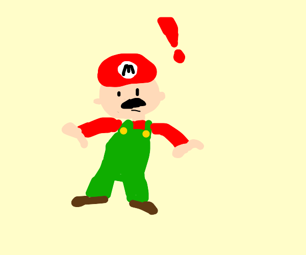 Marios overalls turned green WHAT THE FRICK?!