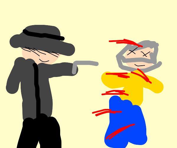 Guy murders someone