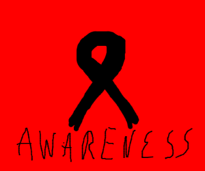Melanoma Support (black cancer ribbon)