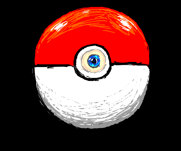 Pokeball with an eye