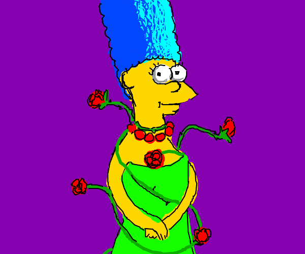 Marge grows a rose