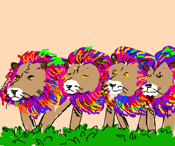 A Gay Pride of Lions