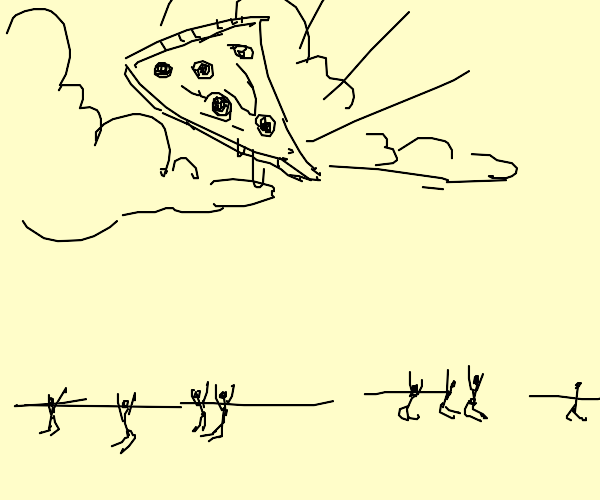 pizza becomes our new god