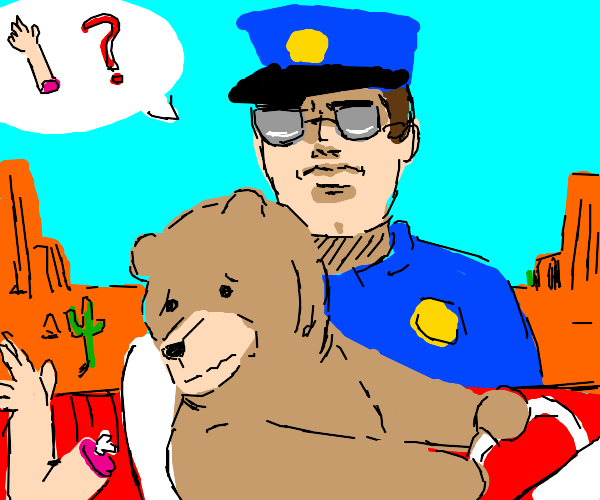 Bear with an amputated limb